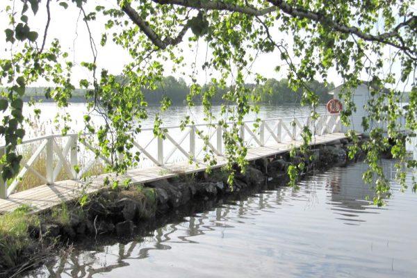 Nokia saunatilat kuvituskuva, kuva järvelle