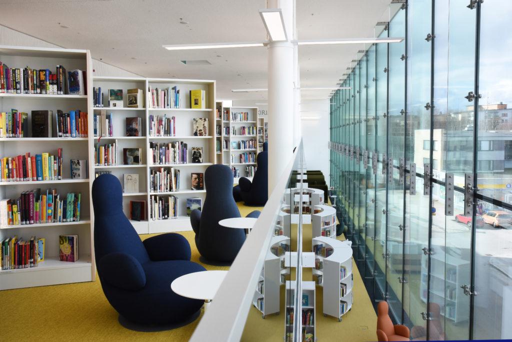 Kuva Kirjasto- ja kulttuurikeskus Virran sisältä Nokialla